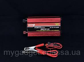 Преобразователь тока PowerOne 24V-220V 1000W + USB/LED (SST-1000A)