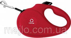 81263 Поводок-рулетка Collar L для собак до 50 кг, 5 м Красный, лента