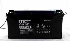 Гелієвий акумулятор АКУМУЛЯТОР 12V 150A UKC (Реальна ємність -40% = 90А)