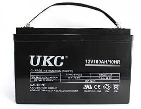 Гелієвий акумулятор АКУМУЛЯТОР 12V 100A UKC (Реальна ємність -40% = 60А)