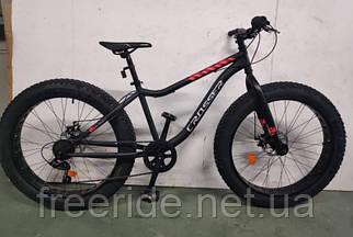 Велосипед фэтбайк Crosser FatBike 26 (16) сталевий чорно-червоний