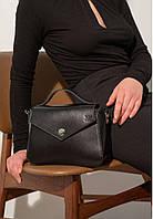 Сумочка женская кожаная черная, фото 1