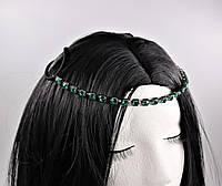 Восточное украшение Тика на голову Бирюзовый Кристалл №72, фото 1
