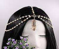 Найкраща прикраса на голову Тика з білими намистинами №12