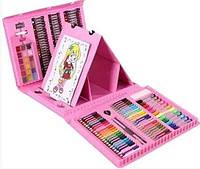 Набор для рисования 208 штук Карандаши Краски Фломастеры Альбом для рисования