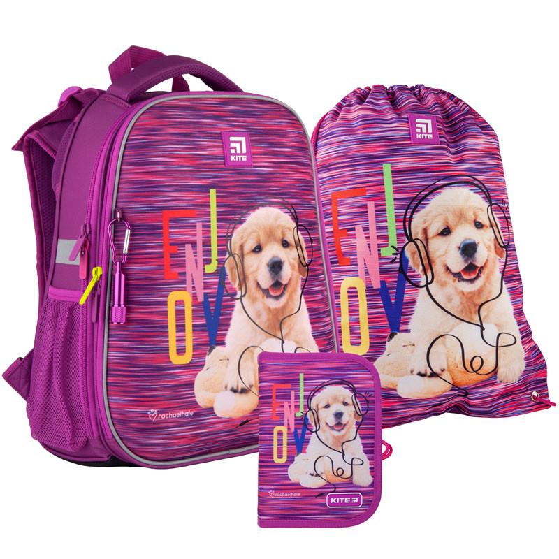 Школьный набор рюкзак + пенал + сумка Kite Rachael Hale (R21-531M)  1000 г  38x29x16 см  16 л  фиолетовый