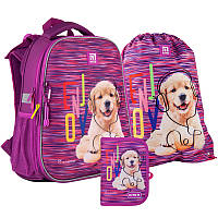Школьный набор рюкзак + пенал + сумка Kite Rachael Hale (R21-531M)  1000 г  38x29x16 см  16 л  фиолетовый, фото 1