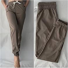 Женские летние штаны, софт №103 серый