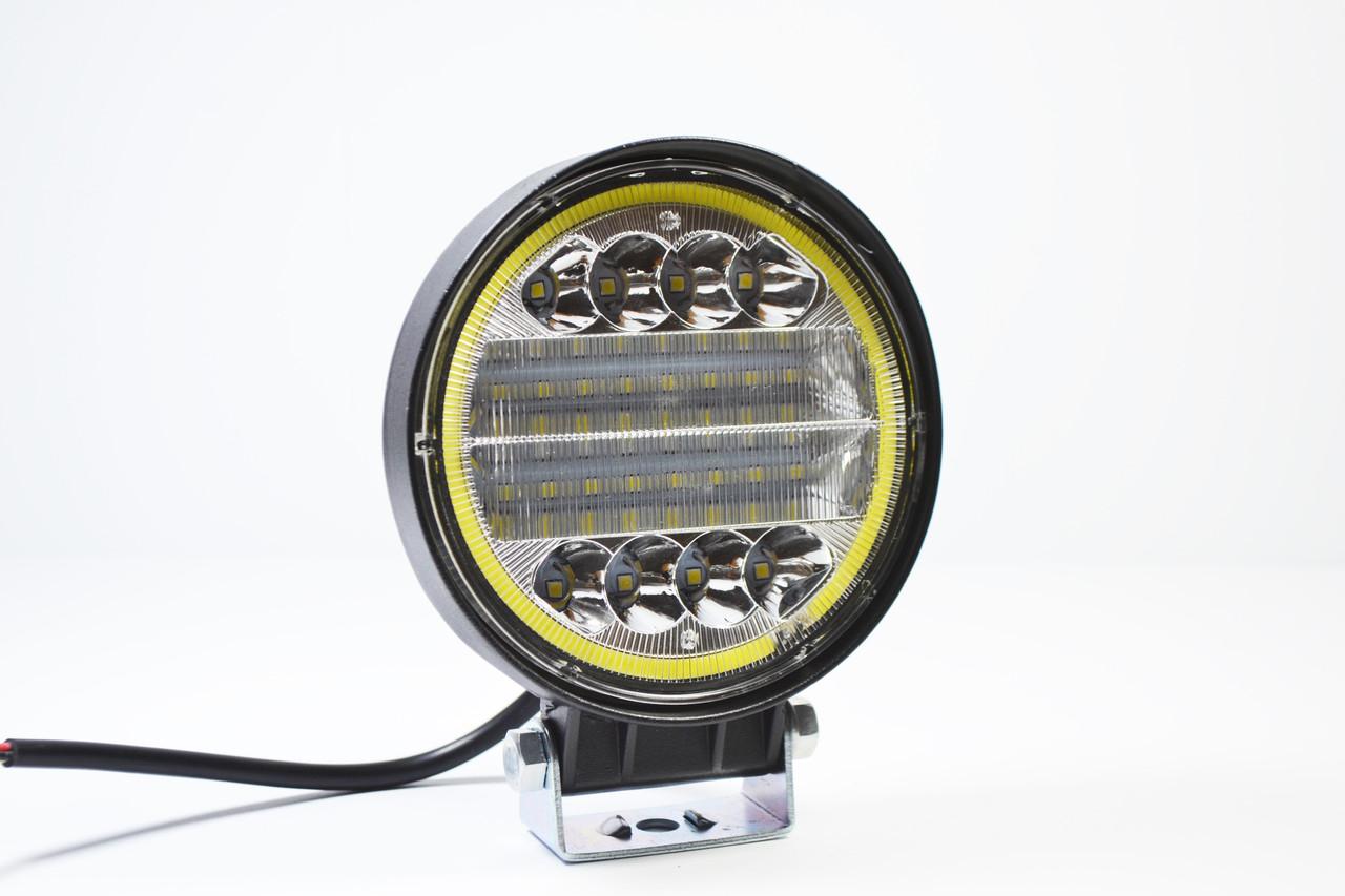 Світлодіодна LED фара робоча 72W Ангельський очей