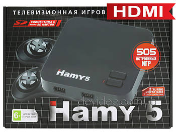 Игровая приставка Hamy 5 HDMI   505 встроенных игр Sega + Dendy   поддержка карты памяти SD