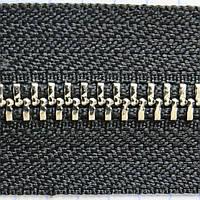 Молния металлическая тип 5 YKK чёрная зуб никель для сумок a1460