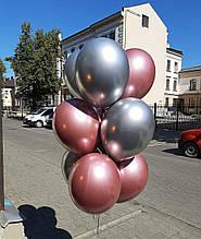 Кульки з рожевих та срібних тонах