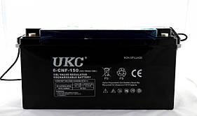 Гелиевый аккумулятор BATTERY 12V 150A UKC (Реальная ёмкость -40% = 90А)