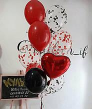 Кульки в червоних тонах
