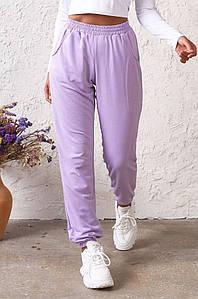 Спортивные штаны женские сиреневые AAA 131573P