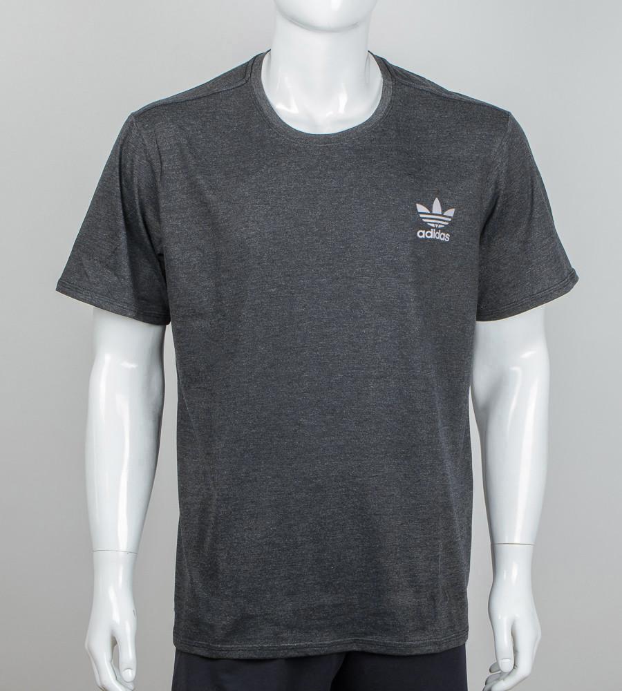 Футболка супер-батал Adidas(2111сб), Т. Сірий меланж