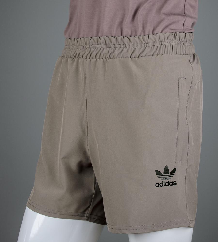 Шорты мужские спортивные Adidas (ШП02), Капучино