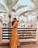Картина рисование по номерам Никитошка Девушка в Дубае BRM36297 40х50 см Люди на картине набор для росписи