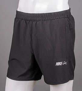 Шорти чоловічі спортивні Nike (ШМ09), Хакі Чорний
