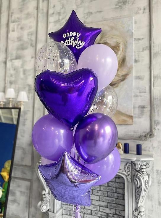 """Воздушные шарики """"Фиолетовые"""""""