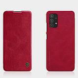 Защитный чехол-книжка Nillkin для Samsung Galaxy A32 4G (Qin leather case) Red Красный, фото 7