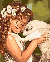 Картина малювання за номерами Ідейка Дитяча дружба KH2340 40х50 см. Діти на картині набір для розпису фарби,