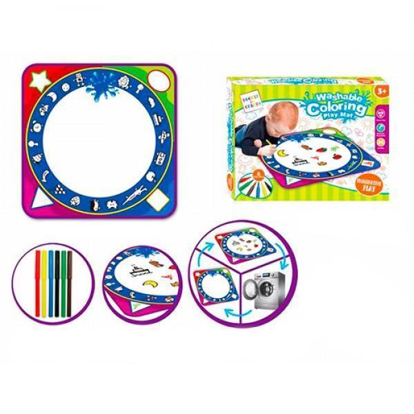 Детский коврик для рисования водой 3815, 48х48 см