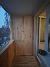Внутрішня обшивка балконів дерев'яною вагонкою, фото 3