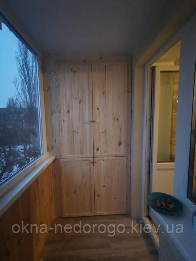 Внутрішня обшивка балконів дерев'яною вагонкою Київ