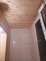 Внутрішня обшивка балконів дерев'яною вагонкою, фото 2