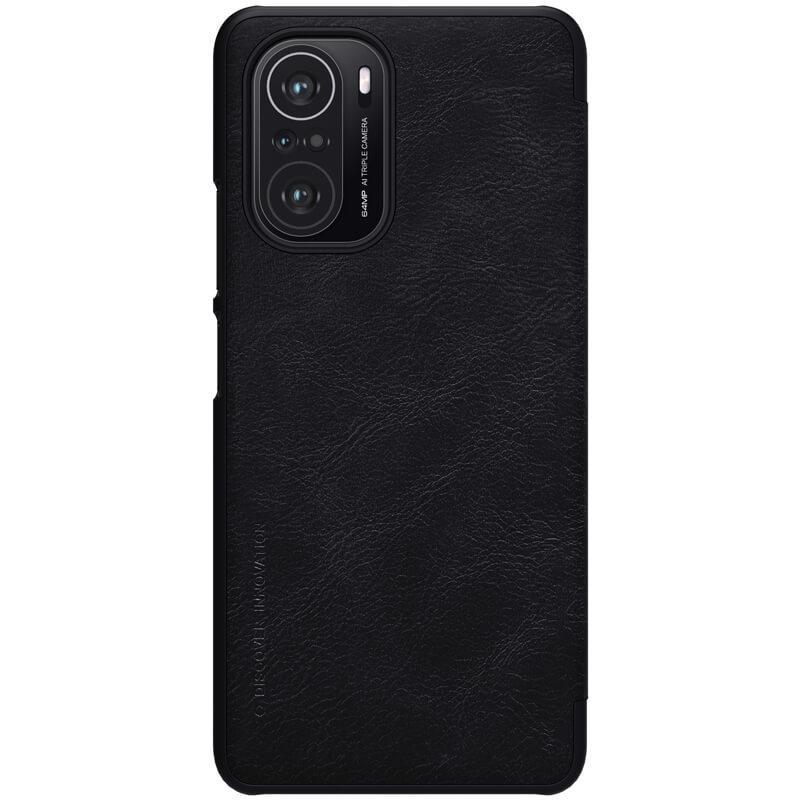 Защитный чехол-книжка Nillkin для Xiaomi Redmi K40/K40 Pro/K40 Pro+/ Poco F3 (Qin leather case) Black Черный