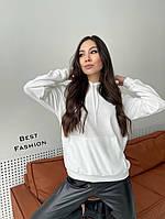 Женское стильное велюровое худи с капюшоном, фото 1