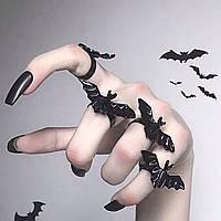 Оригинальное кольцо с летучей мышью в готическом стиле Бижутерия на Хэллоуин, фото 1