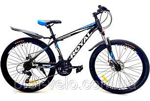 """Велосипед спортивный Royal 26-15"""" DRIVE чёрно-синий"""