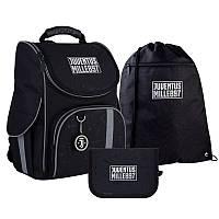 Шкільний набір ранець + пенал + сумка Kite FC Juventus (JV21-501S) 960 р 35x25x13 см 11,5 л чорний, фото 1