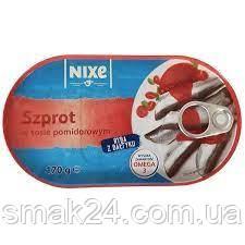 Шпроты в помидорном соусе Nixe Szprot Польша 170г