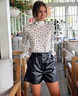 Женские стильные шорты из эко-кожи, фото 1