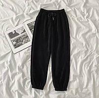 Жіночі стильні вельветові штани на манжетах, фото 1