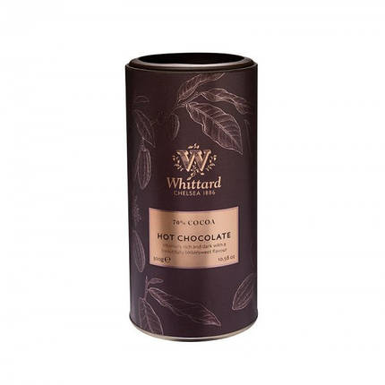 Горячий шоколад 70% какао Whittard Hot Chocolate, 300 г, фото 2