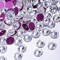 Камни Xirius Сrystals с розовой подложкой, цвет Crystal, ss20 (4,6-4,8мм), 100шт