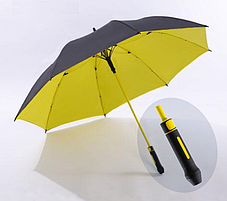 Стильний великий зонт трость, противоштормовой, фото 3