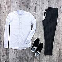 Мужской комплект белая рубашка + брюки