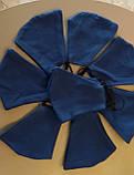Многоразовые маски ПИТТА 100% КОТТОН! Трикотажные черные, синие, красные принты с логотипом Украина, фото 4