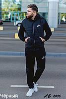 Мужской теплый спортивный костюм тройка батник+штаны+жилет трехнить размеры: 48, 50, 52, 54