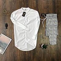 Мужской комплект Asos белая рубашка + серые брюки