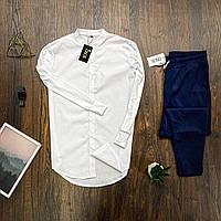 Мужской комплект Asos белая рубашка + синие брюки