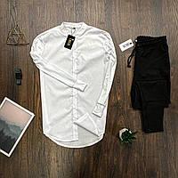 Мужской комплект Asos белая рубашка + черные брюки