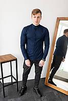 Мужской комплект синяя рубашка + брюки