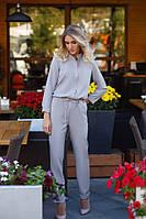 Комбинезон женский длинный рукав костюмка размеры:42,44,46. ОПТ/ДШ