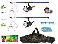 Набор для Начинающего Два спиннинги Bratfishing (Aborigen) с катушками + Донка + необходима оснастка для ловли